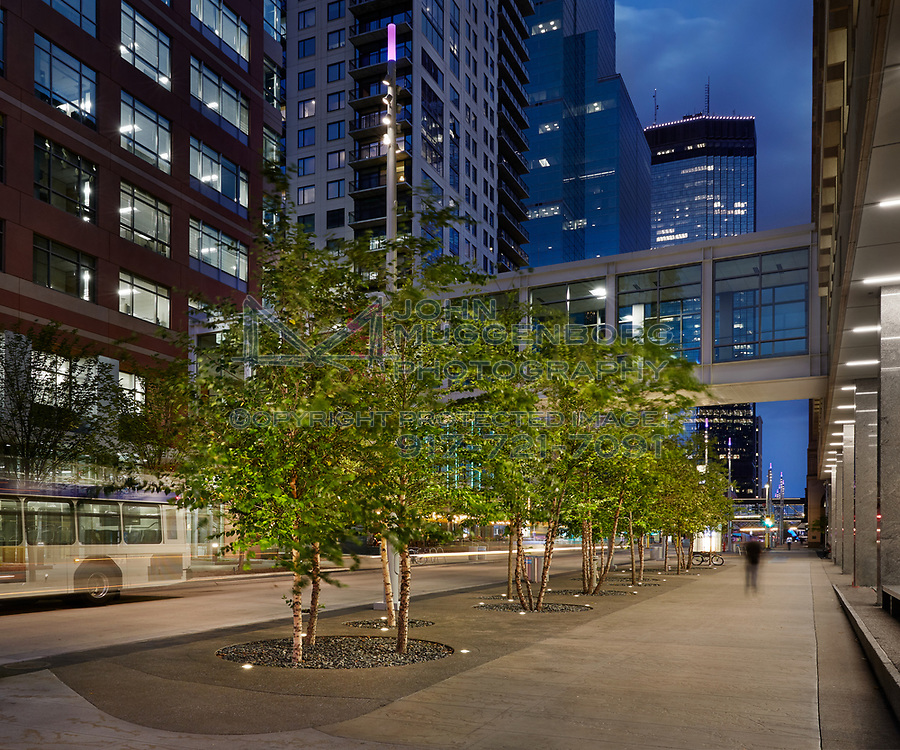 The Nicollet Mall in downtown Minneapolis, Minnesota. Photographed by John Muggenborg.