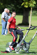 Shane Williams of Wales sitting out training. Wales rugby team training ahead of their next international, pre world cup game against England. the team training at the Vale, near Cardiff  on Tuesday 9th August 2011. Pic By Andrew Orchard, Andrew Orchard sports photography,