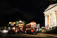 Vintage Buses in London at Night, Tate Britain, London, UK, 07 September 2019, Photo by Richard Goldschmidt