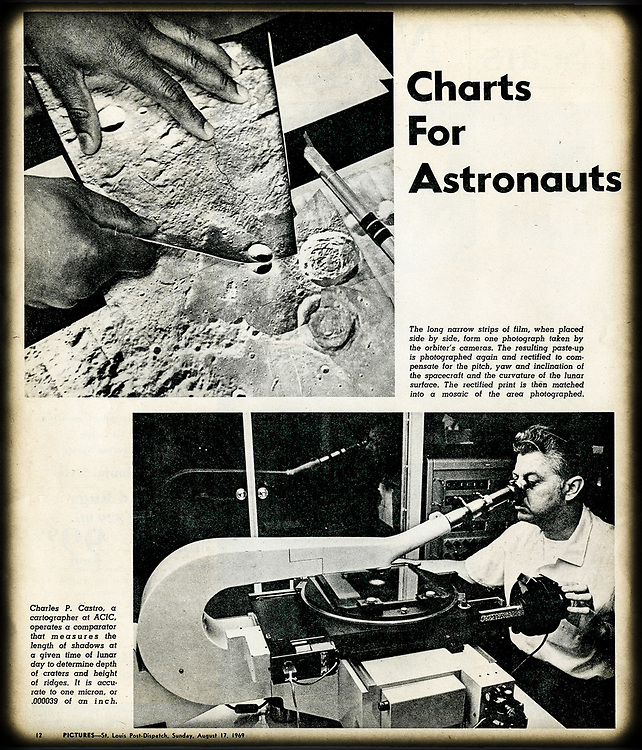 Article describing process of photographing and charting the moon, from St. Louis Post-Dispatch Sunday magazine.