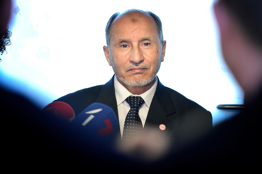 20111215 - Poland - Warsaw  - European Development Days  2011 - Press Point - Mustafa Mohammed Abdul Jalil , Chairman of the National Transition Council of Libya  © European Union