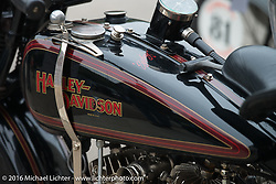 #93 Scott Jacob's Harley on Stage 7 of the Motorcycle Cannonball Cross-Country Endurance Run, which on this day ran from Sedalia, MO to Junction City, KS., USA. Thursday, September 11, 2014.  Photography ©2014 Michael Lichter.