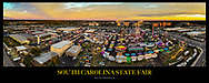 Aerial drone panoramic photo of the South Carolina State Fair in Columbia, SC. Photo © www.Jeff BlakePhoto.com