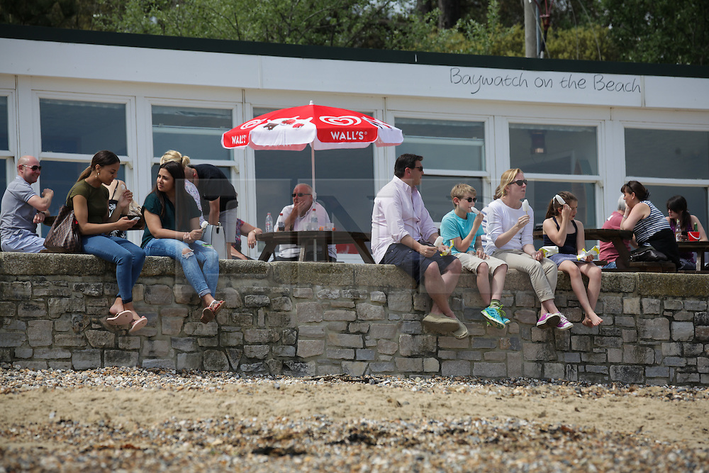 © Licensed to London News Pictures. 23/05/2015. St. Helens, UK. People enjoying the warm and sunny weather at The Duver beach in St. Helens on the Isle of Wight today, Friday 23rd May 2015. Today has been warm and sunny in the South of England. Photo credit : Rob Arnold/LNP