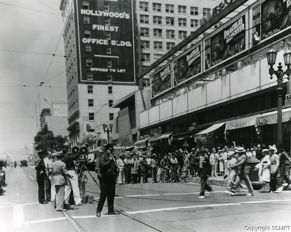 1936 Filming on Hollywood Blvd
