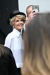 AU_1391515 - Melbourne, AUSTRALIA  -  AAMI Victoria Derby Day celebrities and VIPs in the Birdcage.<br /> <br /> Pictured: Julie Bishop<br /> <br /> BACKGRID Australia 3 NOVEMBER 2018 <br /> <br /> BYLINE MUST READ: Richard Milnes / BACKGRID<br /> <br /> Phone: + 61 2 8719 0598<br /> Email:  photos@backgrid.com.au