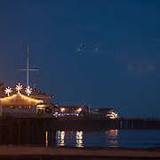 The Pier at night. Santa Barbara, CA.