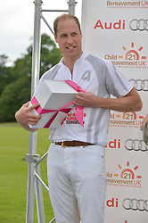 HRH THE DUKE OF CAMBRIDGE at the Audi Polo Challenge at Coworth Park, Blacknest Road, Ascot, Berkshire on 31st May 2015.