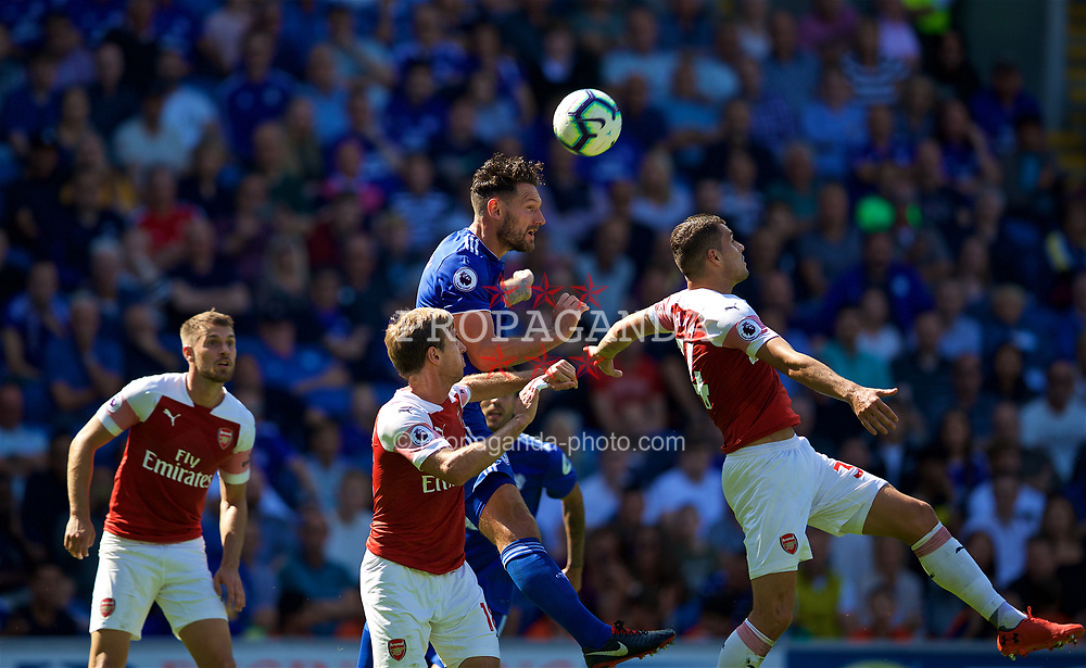 CARDIFF, WALES - Sunday, September 2, 2018: Cardiff City's captain Sean Morrison during the FA Premier League match between Cardiff City FC and Arsenal FC at the Cardiff City Stadium. (Pic by David Rawcliffe/Propaganda)