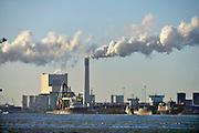 Nederland, Rotterdam, 28-1-2016De elektriciteitscentrale van Eon, E-on. Kolencentrale, co2 uitstoot, kolen, kolengestookte, op de Maasvlakte. the new land. Foto: Flip Franssen/HH