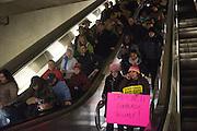 Inauguration of Donald Trump and demonstrators and various entrances,  Washington DC. 20  January 2017