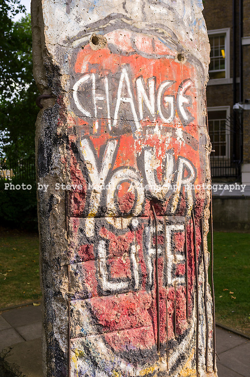 Section of The Berlin Wall, Imperial War Museum, London, Britain - Aug 2012.