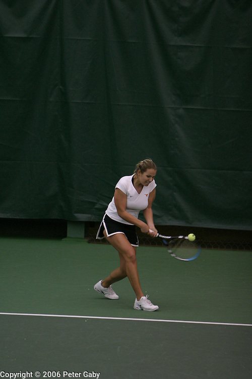 Petra Dizdar, Texas, vs. Jackie Carleton, Duke at the  19th Annual USTA/ITANational Women's Team Indoor Championships at the Nielsen Tennis Stadium in Madison, WI. Feb. 2-5, 2006
