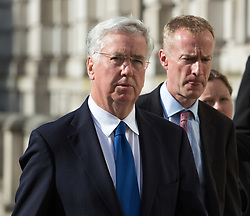 Cabinet Office, London, June 4th 2017. Defence Secretary Michael Fallon arrives at the Cabinet Office in Whitehall for the emergency COBRA Committee meeting following the London Bridge and Borough Markets terrorist incident which claimed the lives of six members of the public and injured over twenty more.