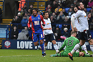Crystal Palace Forward, Loic Remy (8) misses  during the The FA Cup 3rd round match between Bolton Wanderers and Crystal Palace at the Macron Stadium, Bolton, England on 7 January 2017. Photo by Mark Pollitt.