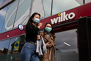 Shoppers, some wearing face coverings to prevent the spread of Covid-19, passing a branch of British high street homewares chain Wilko in the city centre on 2nd September, 2021 in Leeds, United Kingdom. Wilko is a British high street retail chain that specialises in homeware and household goods.