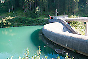 Gmund Dam and power plant Near Gerlos Pass, Zillertal, Tirol, Austria