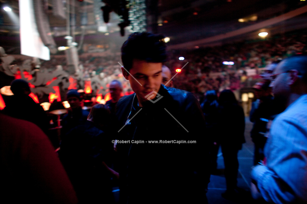 John Mayer backstage at the 2009 Z100's Jingle Ball at Madison Square Garden in New York. ..(Photo by Robert Caplin)..
