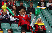 Welsh fans enjoying a bit of Tom Jones prior to kick off during the Rugby World CupPool A match between Australia and Wales at Twickenham, Richmond, United Kingdom on 10 October 2015. Photo by Matthew Redman.