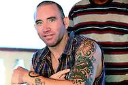 Man with tattoo in Gibara, Holguin, Cuba.
