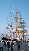 Gdynia, (woj. pomorskie) 16.08.2014. Zlot żaglowców w Gdyni, rosyjski żaglowiec STS Kruzensztern.