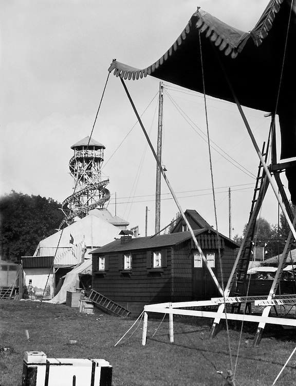 Fairgrounds Without Any People, Dachau, Bavaria, 1925