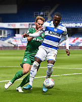 Football - 2019 / 2020 Sky Bet (EFL) Championship - Queens Park Rangers vs. Sheffield Wednesday<br /> <br /> Queens Park Rangers' Bright Osayi-Samuel holds off the challenge from Sheffield Wednesday's Tom Lees, at Kiyan Prince Foundation Stadium (Loftus Road).<br /> <br /> COLORSPORT/ASHLEY WESTERN