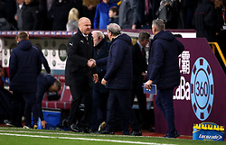 Burnley manager Sean Dyche (left) and Crystal Palace manager Roy Hodgson shake hands after the Premier League match at Turf Moor, Burnley.