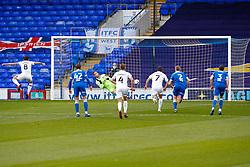 Oliver Norburn of Shrewsbury Town scores and celebrates - Mandatory by-line: Phil Chaplin/JMP - 21/11/2020 - FOOTBALL - Portman Road - Ipswich, England - Ipswich Town v Shrewsbury Town - Sky Bet League One