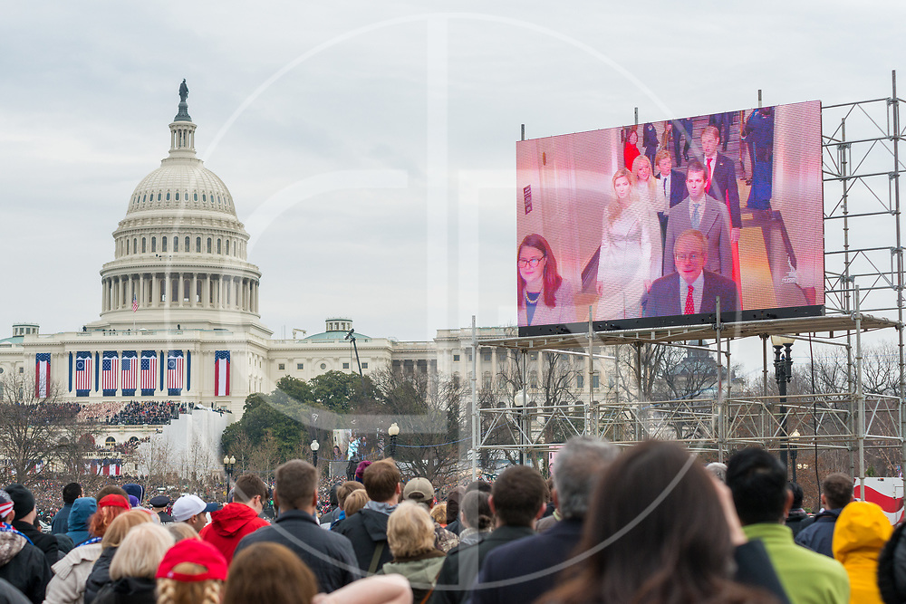 Washington DC, United States - Trump family members arrive at the inauguration ceremony for Donald J. Trump.