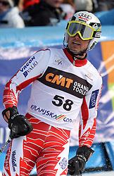 Jukka Leino at 9th men's slalom race of Audi FIS Ski World Cup, Pokal Vitranc,  in Podkoren, Kranjska Gora, Slovenia, on March 1, 2009. (Photo by Vid Ponikvar / Sportida)
