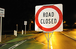 March 15, 2019 - Christchurch, New Zealand: ROAD CLOSED: A road sign near, the crime scene, where the terror attacks occurred today in Christchurch. At least 49 people were killed and 48 others wounded in the attacks on two mosques of New Zealand's Christchurch earlier on Friday. (Credit Image: © Xinhua via ZUMA Wire)..