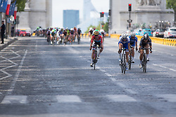 Christine Majerus (LUX) of Boels-Dolmans Cycling Team joins a breakaway attempt during the La Course, a 89 km road race in Paris on July 24, 2016 in France.