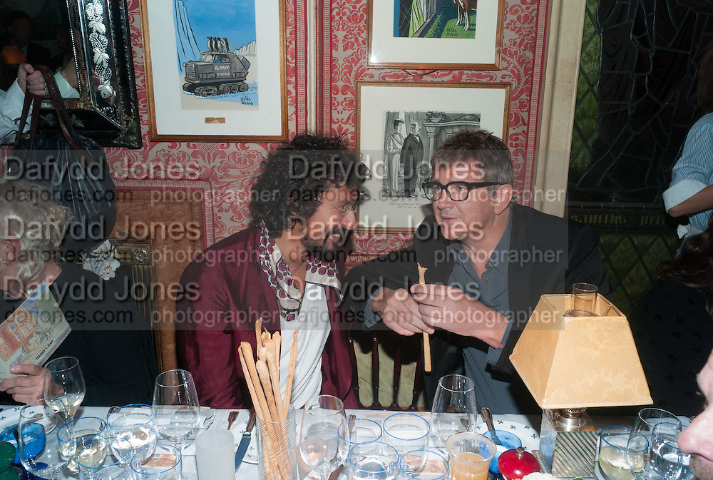 HAIDER ACKERMANN; JAY JOPLING, Charles Finch and  Jay Jopling host dinner in celebration of Frieze Art Fair at the Birley Group's Harry's Bar. London. 10 October 2012.