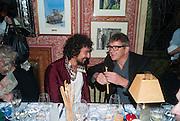 HAIDER ACKERMANN; JAY JOPLING, Charles Finch and  Jay Jopling host dinner in celebration of Frieze Art Fair at the Birley Group's Harry's Bar. London. 10 October 2012.
