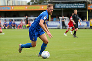 AFC Wimbledon midfielder Scott Wagstaff (7) dribbling during the EFL Sky Bet League 1 match between AFC Wimbledon and Accrington Stanley at the Cherry Red Records Stadium, Kingston, England on 17 August 2019.