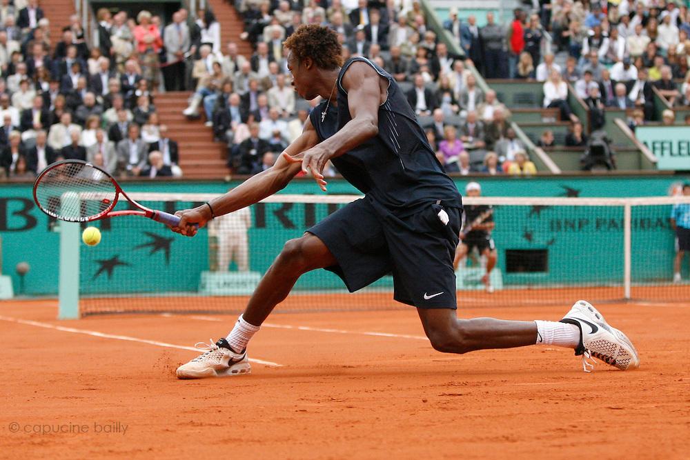 Roland Garros. Paris, France. June 4th 2008..Gael MONFILS against David FERRER..1/4 Finals...