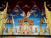 30 JANUARY 2016 - NONTHABURI, NONTHABURI, THAILAND: An entrance to Wat Bua Khwan, a large Buddhist temple in Nonthaburi, north of Bangkok, Thailand.        PHOTO BY JACK KURTZ