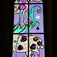 Grossmunster Stained Glass Zurich Switzerland
