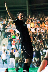 03.08.2011, UPC Arena, Graz, AUT, CL-Qualifiers, SK Sturm Graz vs. FC Zestafoni, im Bild Torjubel nach dem 1:0 durch Roman Kienast (SK Sturm Graz, #24, Forward), EXPA Pictures © 2011, PhotoCredit: EXPA/ Erwin Scheriau