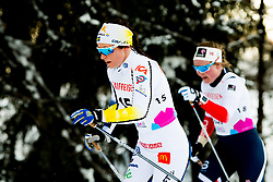 February 2, 2018 - Goms, SWITZERLAND - 180202 Moa Molander Kristiansen of Sweden and Julie Myhre of Norway compete in the women's 7,5/7,5 km skiathlon during the FIS U23 Cross-Country World Ski Championships on February 2, 2018 in Obergoms..Photo: Vegard Wivestad GrÂ¿tt / BILDBYRN / kod VG / 170095 (Credit Image: © Vegard Wivestad Gr¯Tt/Bildbyran via ZUMA Press)