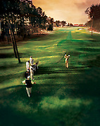 A group of friends play on a famous golf course in Pinehurst, North Carolina
