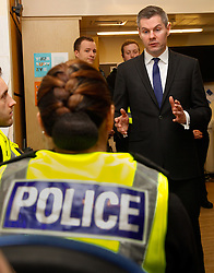 2/2/17 Finance Secretary Derek Mackay visits Howdenhall Police Station in Edinburgh ahead of the Stage One Budget Bill debate in Parliament.