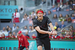 May 13, 2018 - Madrid, Madrid, Spain - ALEXANDER ZVEREV in a match against DOMINIC THIEM during the final of Mutua Madrid Open 2018 - ATP in Madrid. ALEXANDER ZVEREV won the match 6-4 6-4. (Credit Image: © Patricia Rodrigues via ZUMA Wire)