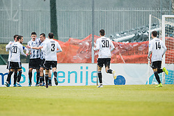 Players of NS Mura during the football match between NK Triglav Kranj and NS Mura in 23rd Round of Prva liga Telekom Slovenije 2019/20, on March 1, 2020 in Športni park Kranj, Kranj, Slovenia. Photo By Grega Valancic / Sportida
