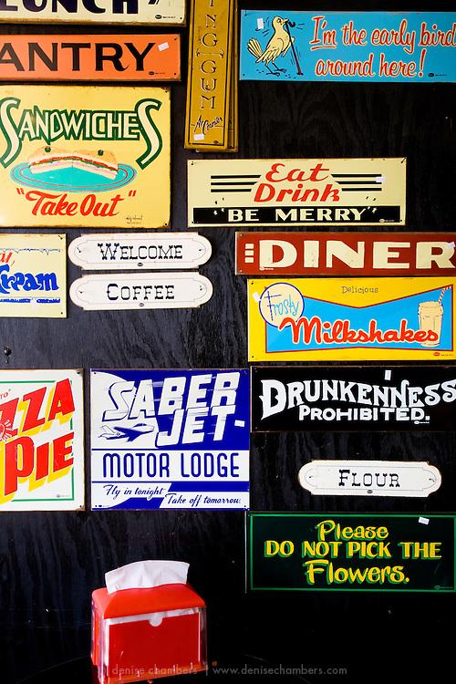 Antique diner signs.