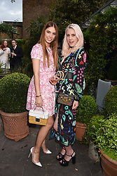 Left to right, Amber Le Bon and India Rose James at The Ivy Chelsea Garden's Annual Summer Garden Party, The Ivy Chelsea Garden, 197 King's Road, London England. 9 May 2017.<br /> Photo by Dominic O'Neill/SilverHub 0203 174 1069 sales@silverhubmedia.com