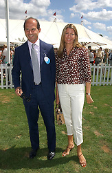 COUNT & COUNTESS RICCARDO PAVONCELLI she was Cosima Von Bulow daughter of Claus Von Bulow at the Cartier International polo at Guards Polo Club, Windsor Great Park, on 30th July 2006.<br /><br />NON EXCLUSIVE - WORLD RIGHTS