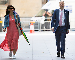 ** FILE PICTURE**© Licensed to London News Pictures. 05/07/2020. London, UK. Secretary of State for Health and Social Care Matt Hancock arrives at the BBC with his senior aide Gina Coladangelo  Photo credit: George Cracknell Wright/LNP