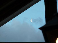 Moon from Hotel Las Torres in Torres del Paine National Park. Image taken with a Leica V-Lux 20 Camera (ISO 80, 49.2 mm, f/4.9, 1/125 sec).